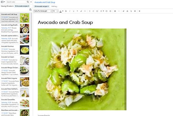 Avocado healthy recipes