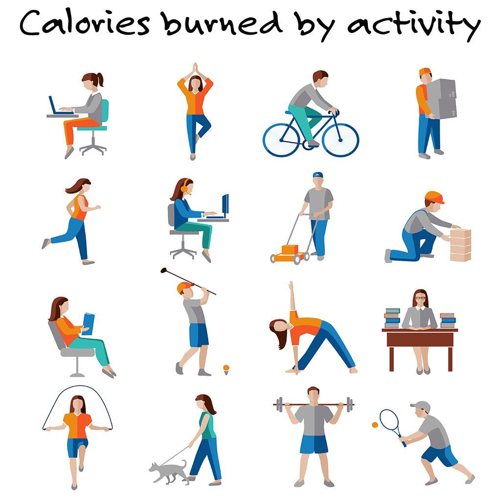 calories burned by activity, sport, health, lifestyle, calorie, fitness, exercise